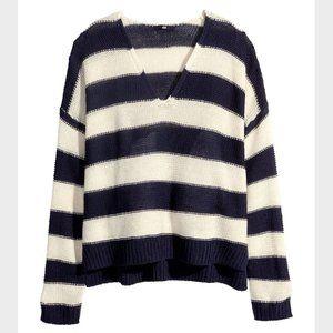 H&M Striped Knit Sweater